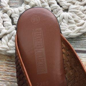 Vintage Shoes - Vintage | Woven Leather Mules Slides